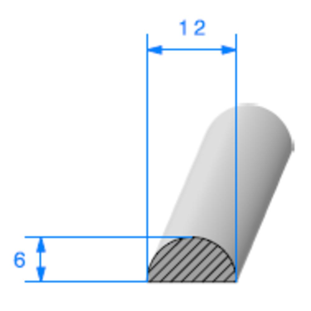 1/2 Rond Cellulaire   [12 mm]   Vendu au Mètre