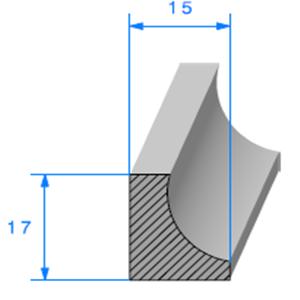 1/2 Lune Cellulaire   [15 x 17 mm]   Vendu au Mètre