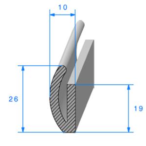U Cellulaire   [26 x 10 mm]   Vendu au Mètre