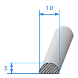 1/2 Rond Cellulaire   [10 mm]   Vendu au Mètre