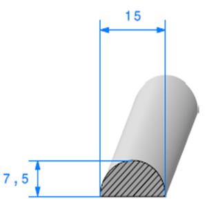 1/2 Rond Cellulaire   [15 mm]   Vendu au Mètre