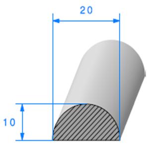 1/2 ROND Cellulaire [20mm]   Vendu au Mètre