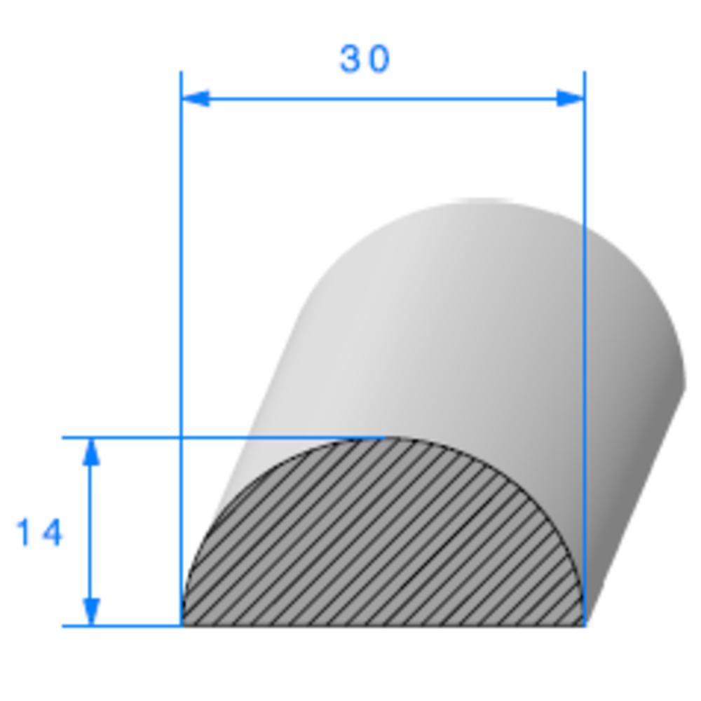 1/2 Rond Cellulaire   [30 mm]   Vendu au Mètre