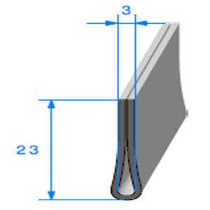 Compact en U <br /> [23 x 5 mm] <br /> [Accroche 3 mm] <br /> Vendu au Mètre<br />