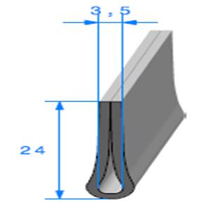 Compact en U <br /> [24 x 7 mm] <br /> [Accroche 3,5 mm] <br /> Vendu au Mètre<br />