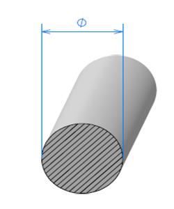 Corde Cellulaire EPDM   [Ø 4 mm]   Vendu au Mètre