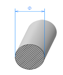 Corde Cellulaire EPDM [Ø 5mm]   Vendu au Mètre