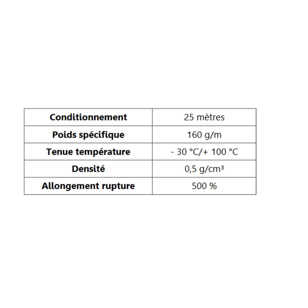 Corde Cellulaire EPDM   [Ø 18 mm]   Vendu au Mètre