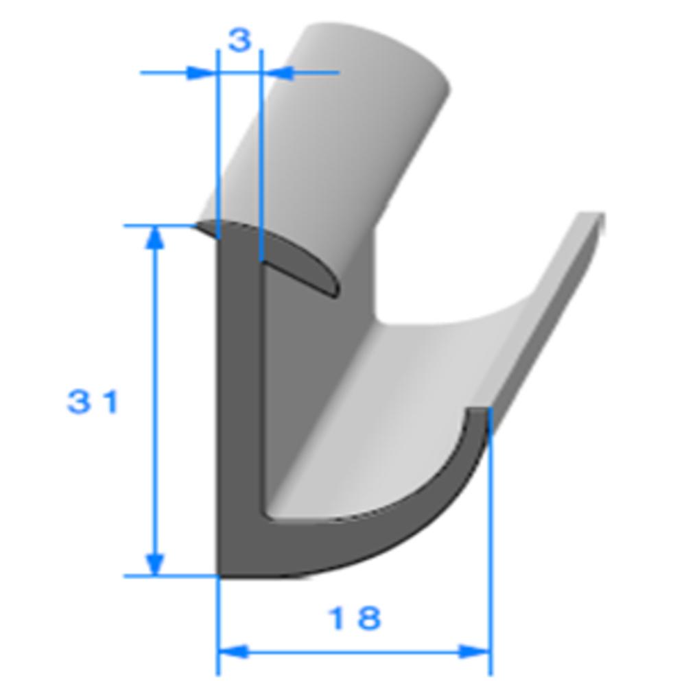 Compact en L   [31 x 18 mm]   Vendu au Mètre