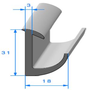 Compact en L   [18 x 31 mm]   Vendu au Mètre