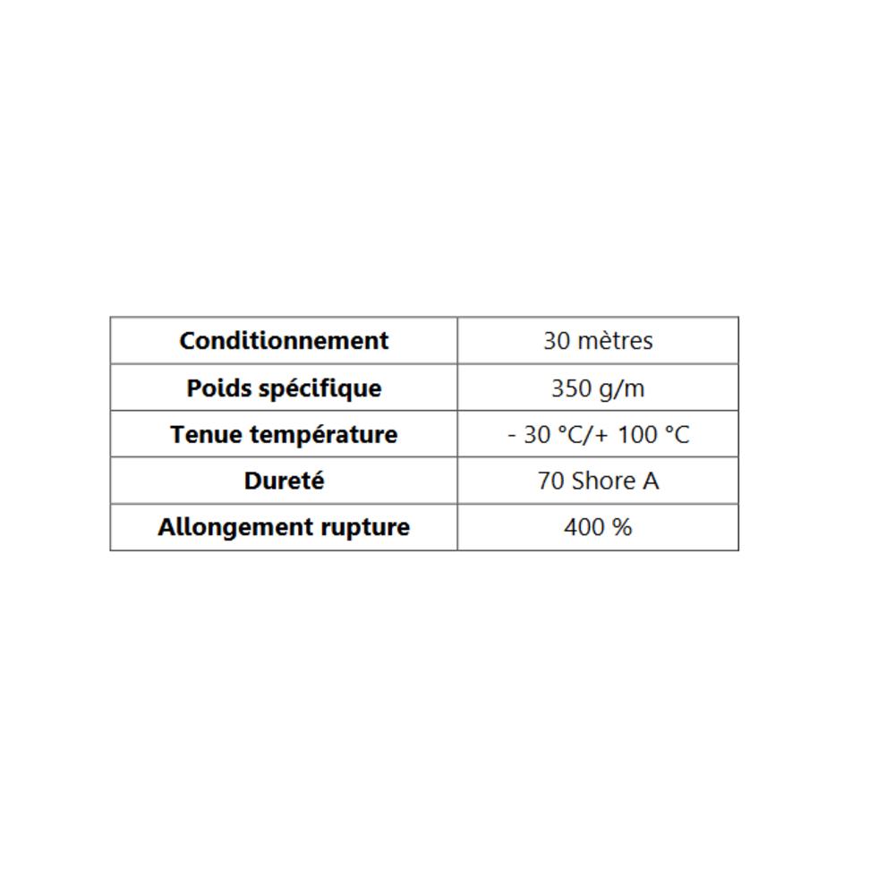 Joint de Fenêtre en S [21x20 mm]   Vendu au Mètre