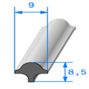 Clé pour Prof Compact Glace [9x8.5 mm]   Vendu au Mètre