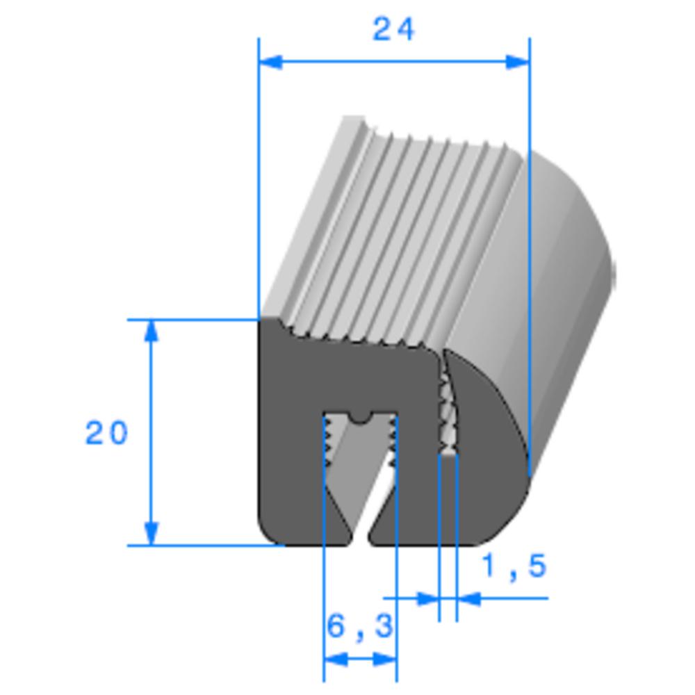 Joint de Fenêtre en S [20x24 mm]