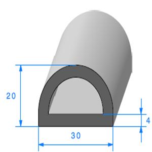 Compact Bourrelet [30x20 mm]   Vendu au Mètre