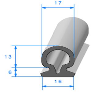 Compact Bourrelet   [19 x 17 mm]   Vendu au Mètre
