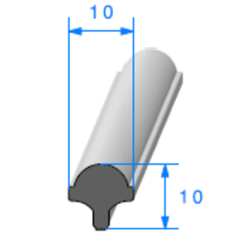 Clé pour Prof Compact Glace   [10 x 10 mm]   Vendu au Mètre