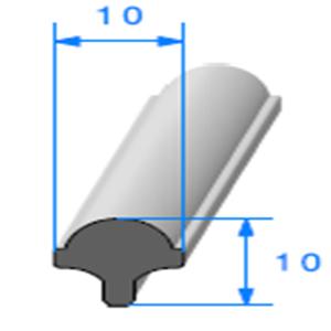 Clé pour Prof Compact Glace [10x10 mm]   Vendu au Mètre