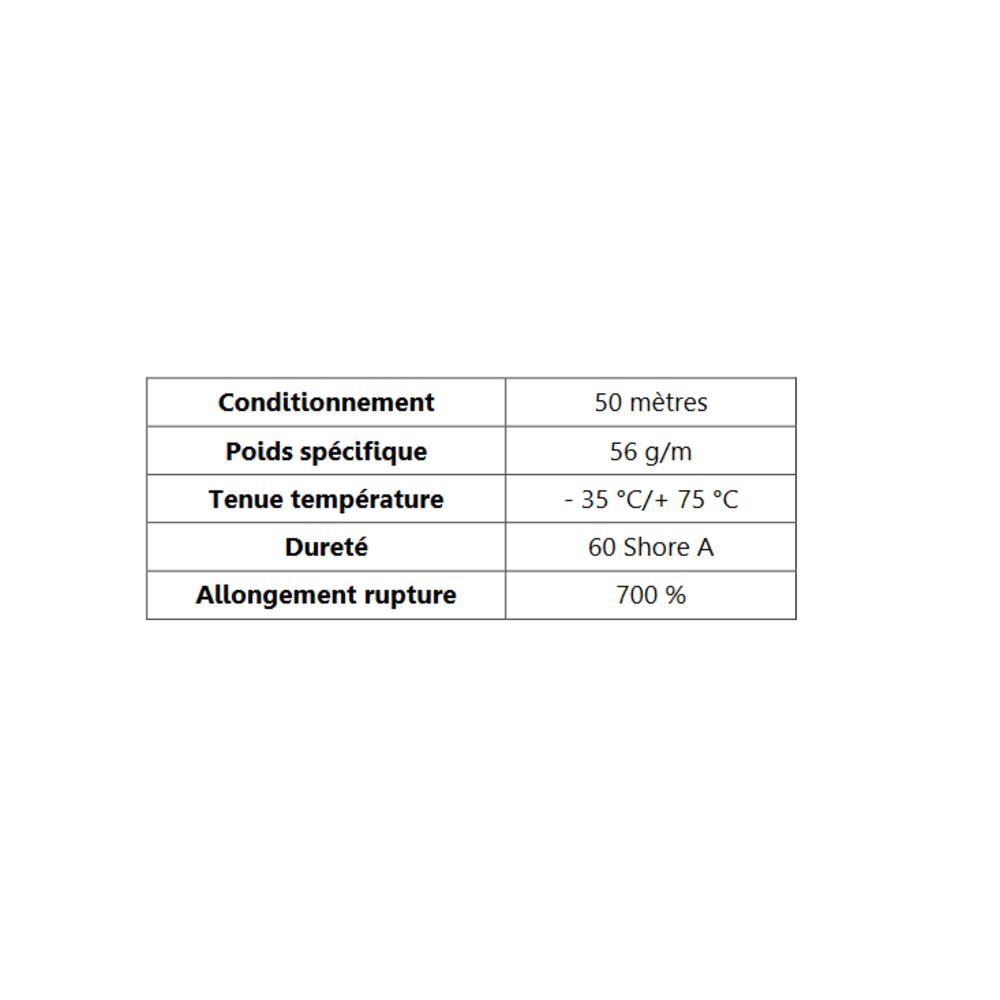 TPE Compact en U Gris   [13 x 6,5 mm]   [Accroche 2,2 mm]   Vendu au Mètre