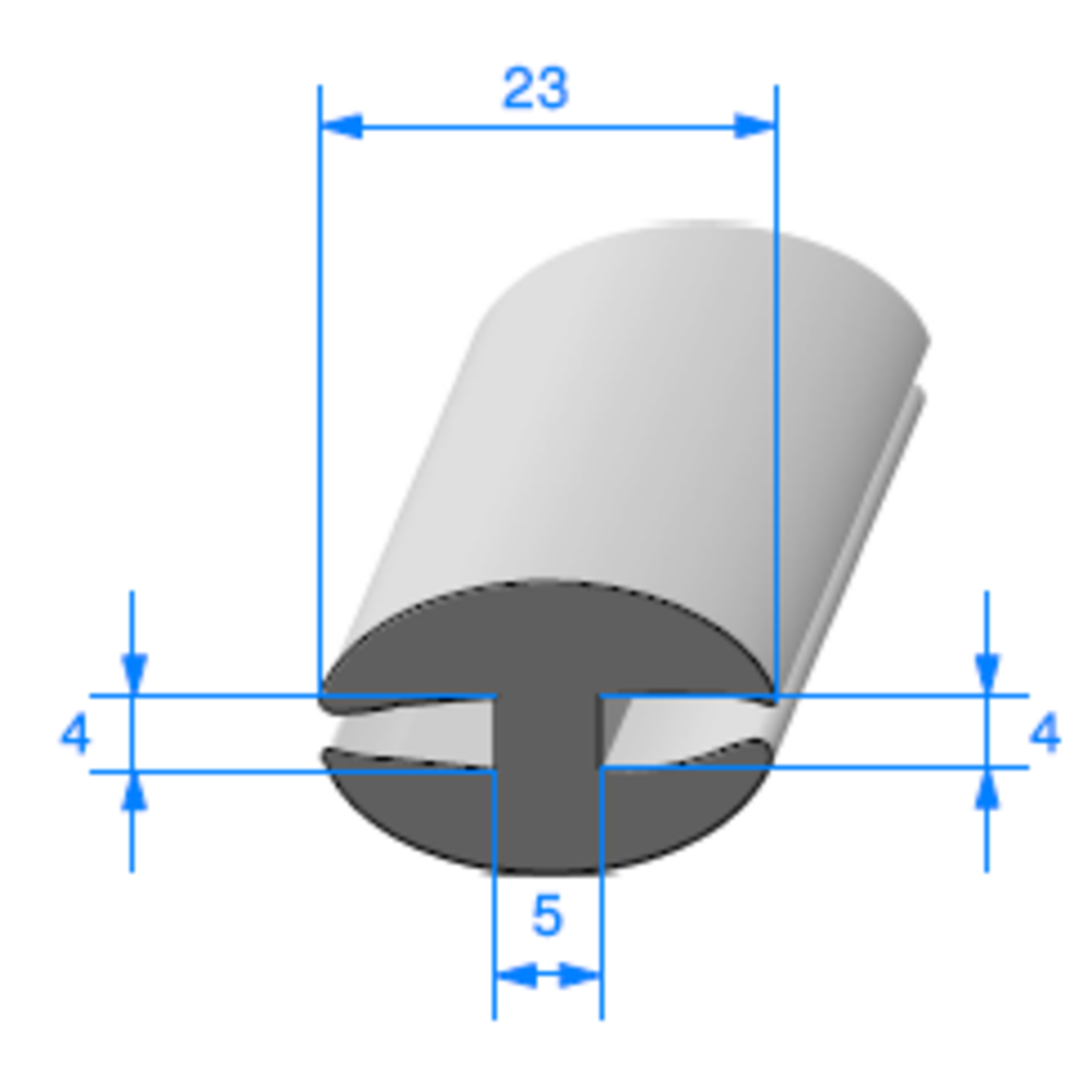 Joint de Fenêtre en H   [14 x 23 mm]   Vendu au Mètre