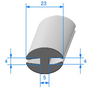 Joint de Fenêtre en H [4x4 mm]