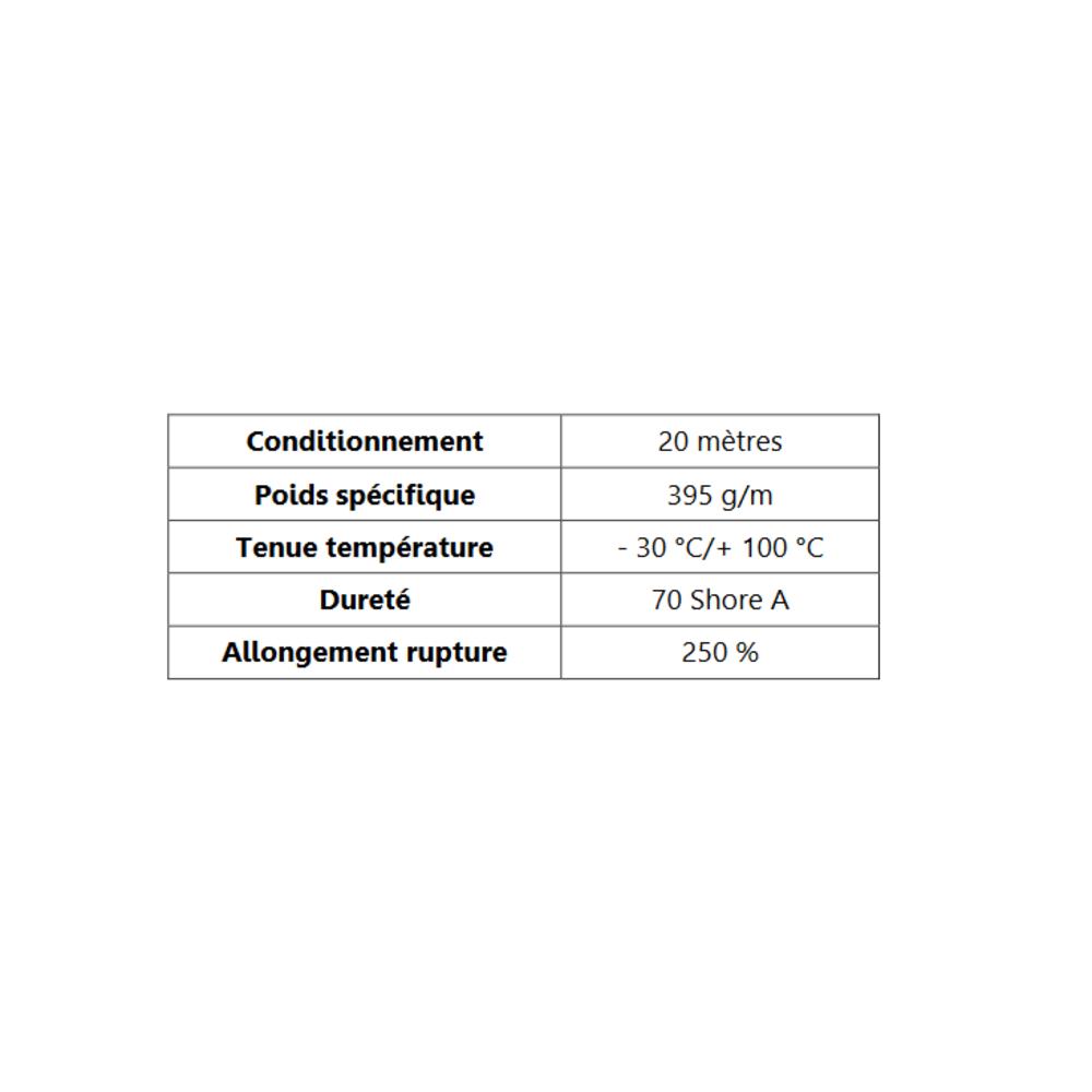 Joint de Fenêtre en H [22.3x28 mm]   Vendu au Mètre