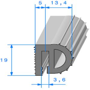 Isotherme   [19 x 19 mm]   Vendu au Mètre