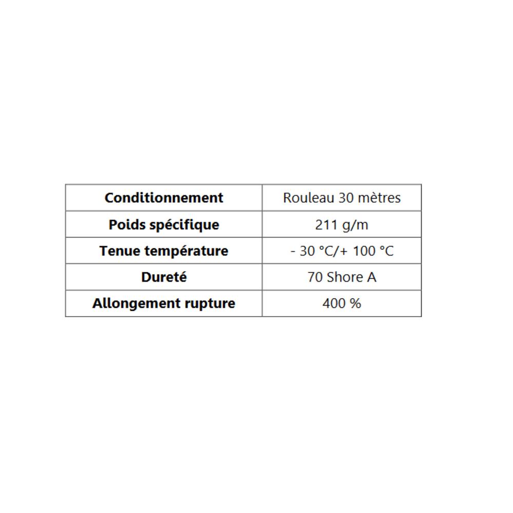 Joint de Fenêtre en H [16x17 mm]   Vendu au Mètre