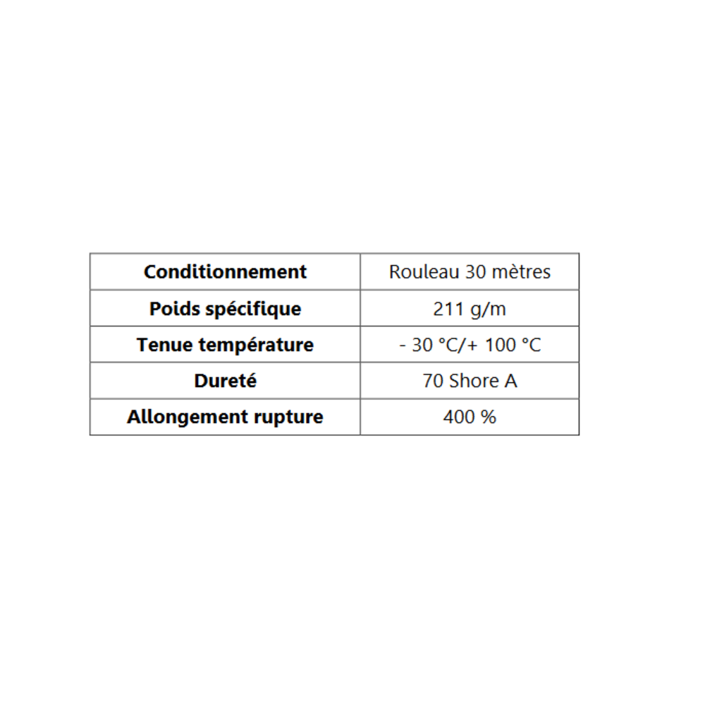 Joint de Fenêtre en H   [16 x 17 mm]   Vendu au Mètre