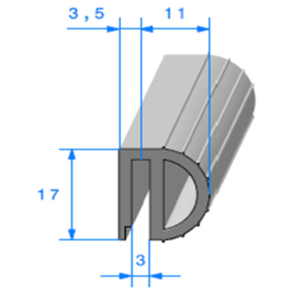Isotherme   [17 x 15 mm]   Vendu au Mètre
