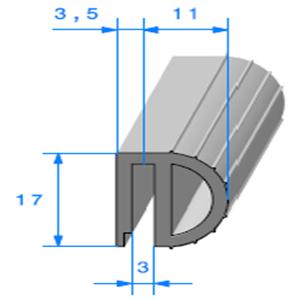 Isotherme   [17 x 14,5 mm]   Vendu au Mètre