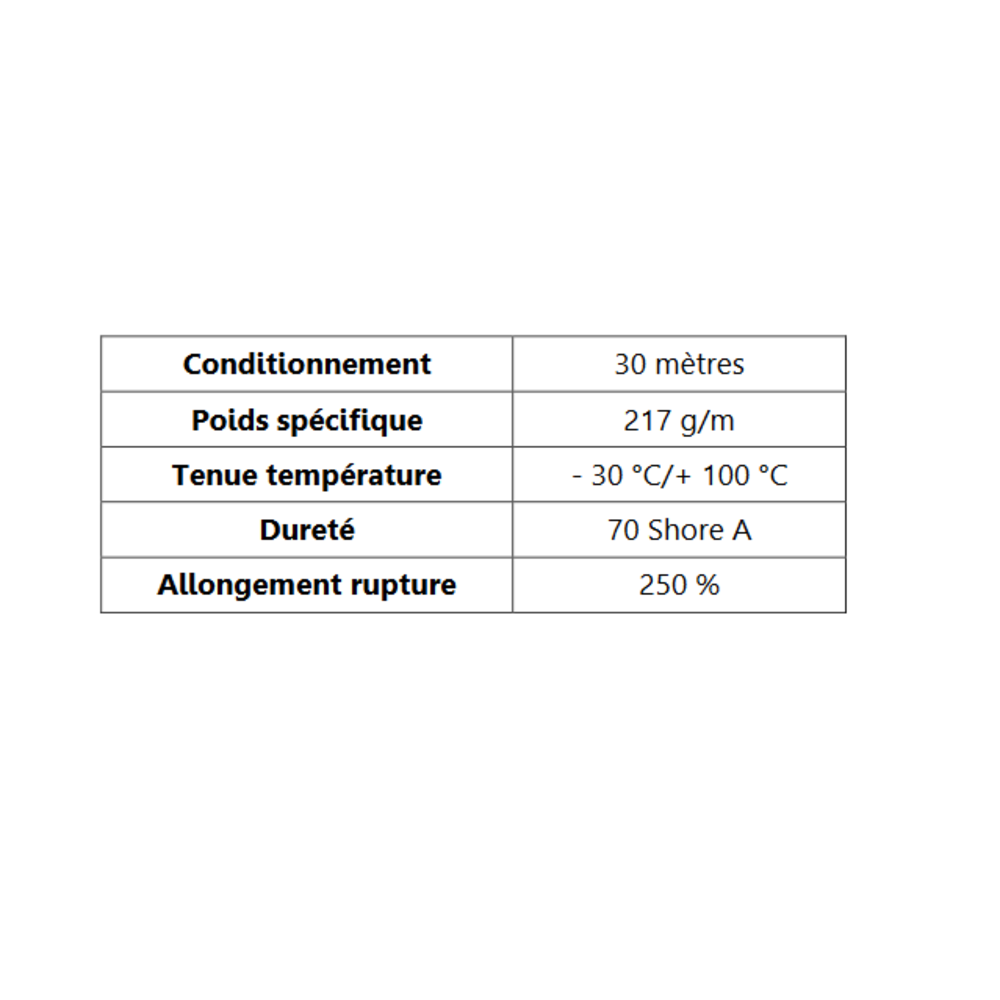 Joint de Fenêtre en S   [14 x 17 mm]   Vendu au Mètre