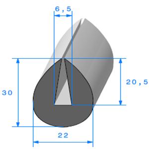Compact en U 6.5 mm   Vendu au Mètre