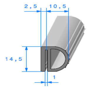 Isotherme   [13 x 14.5 mm]   Vendu au Mètre