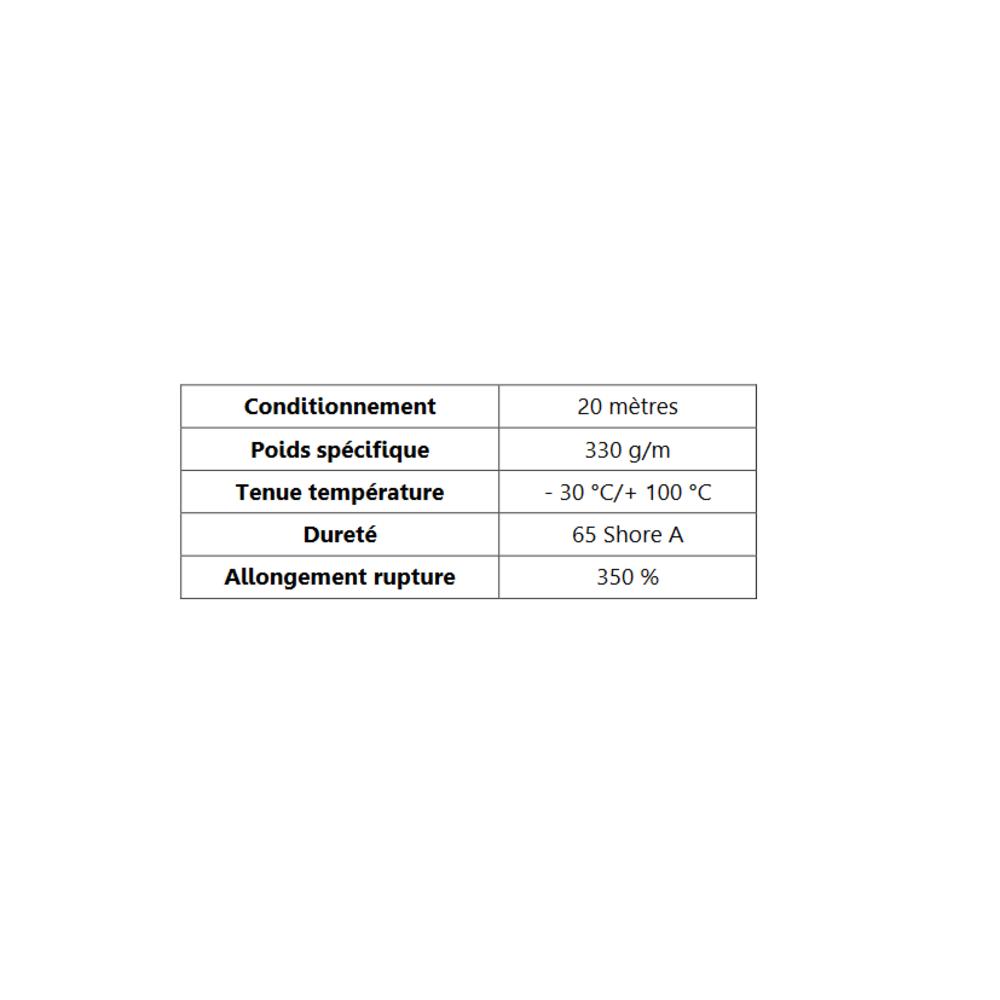 Joint de Fenêtre en H [18x28 mm]   Vendu au Mètre