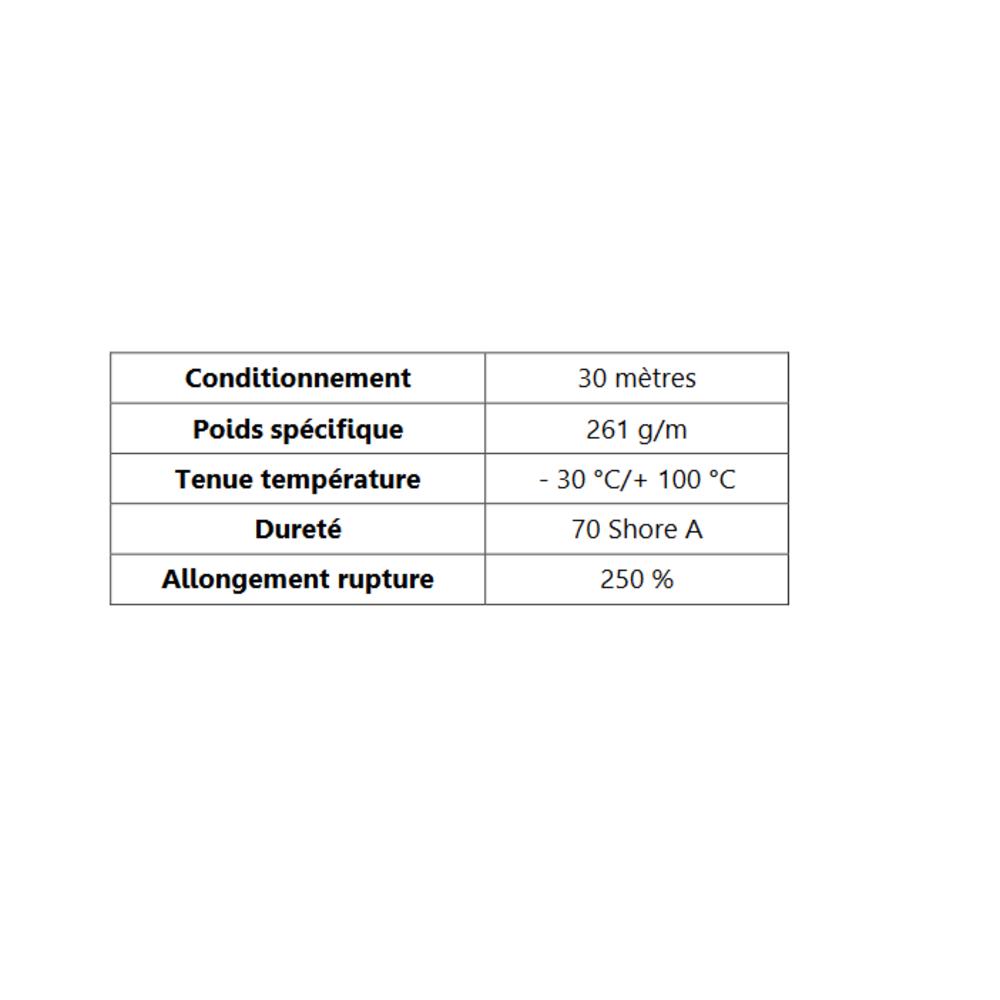 Joint de Fenêtre en H   [16 x 21.5 mm]   Vendu au Mètre