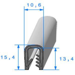 Pince PVC Armé   [Accroche 2,5 à 4,5 mm]   Vendu au Mètre