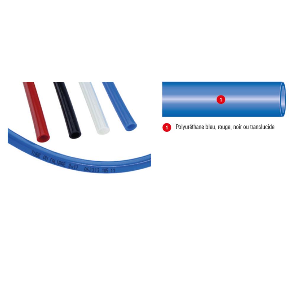 Tube PU Calibré Bleu   Vendu au Mètre