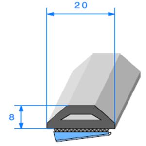 Butoir ADH   [8 x 20 mm]   Vendu au Mètre