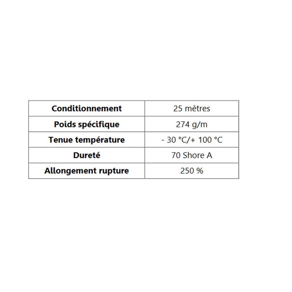 Joint de Fenêtre en S [18.5x20 mm]   Vendu au Mètre