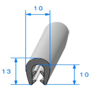 Pince EPDM Bi-Dureté   [Accroche 2,5 à 3,5 mm]   Vendu au Mètre