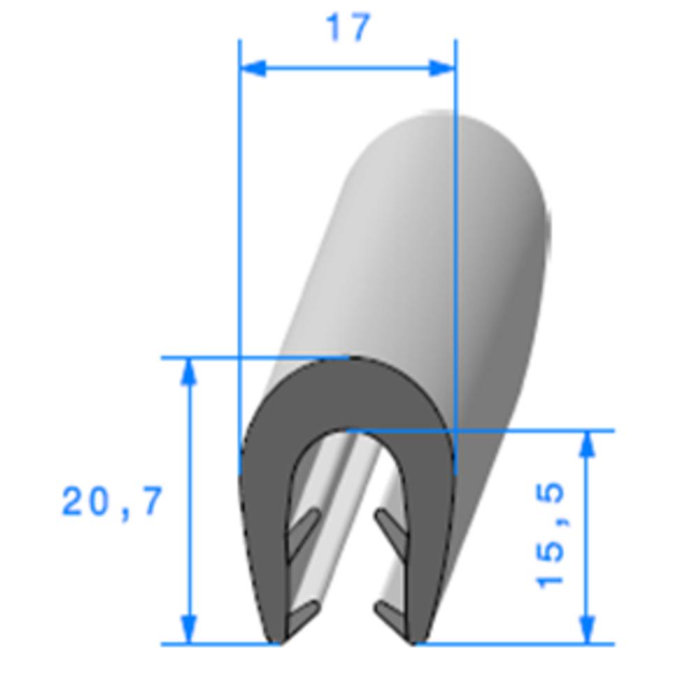 Pince EPDM Bi-Dureté   [5/8 mm]   Vendu au Mètre