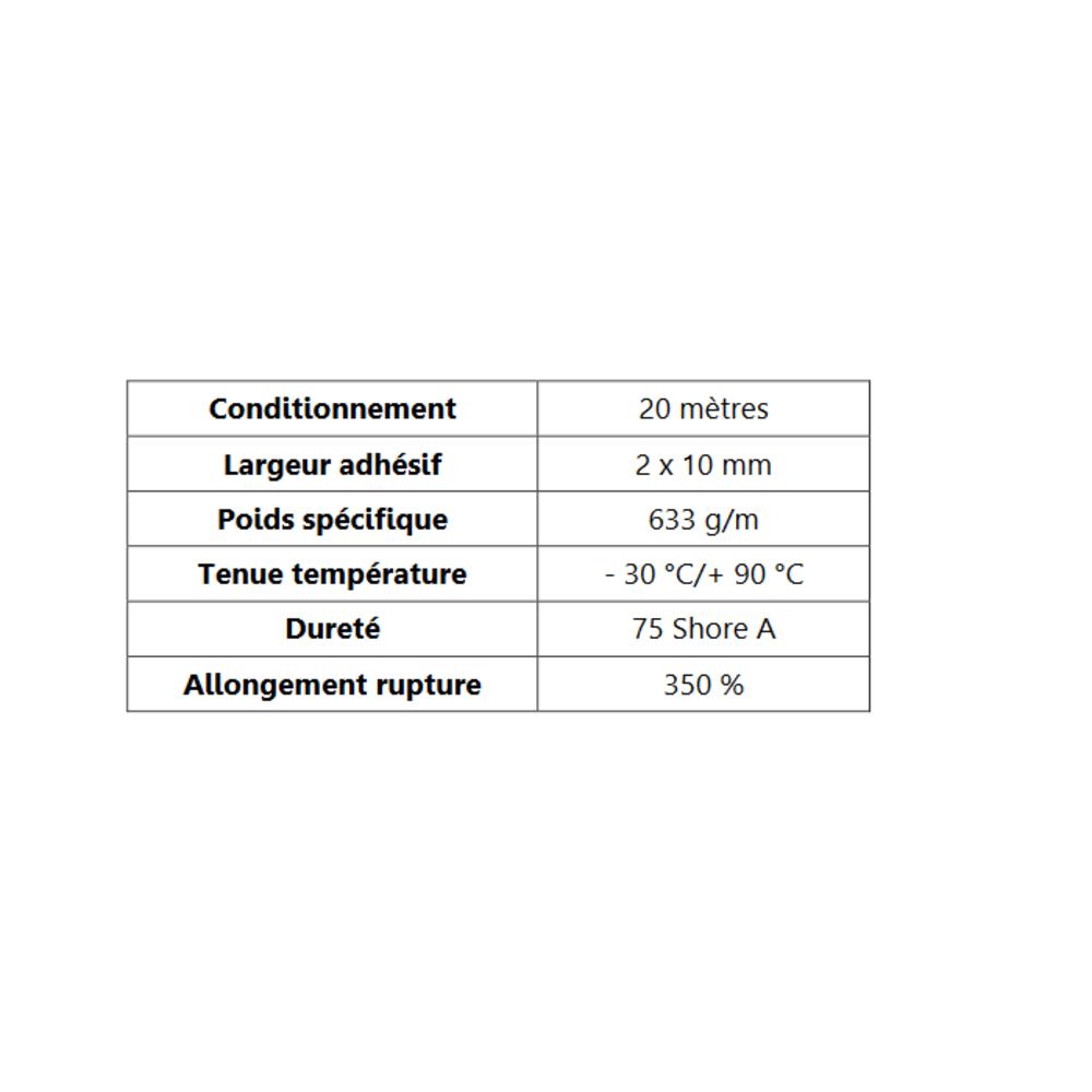 Butoir pour Angle ADH   [38 x 20 mm]   Vendu au Mètre