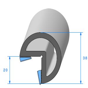 Butoir pour Angle ADH   [2 x 10 mm]   Vendu au Mètre