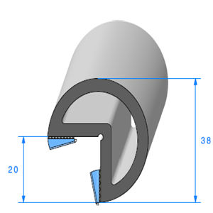 Butoir pour Angle ADH 2x10 mm