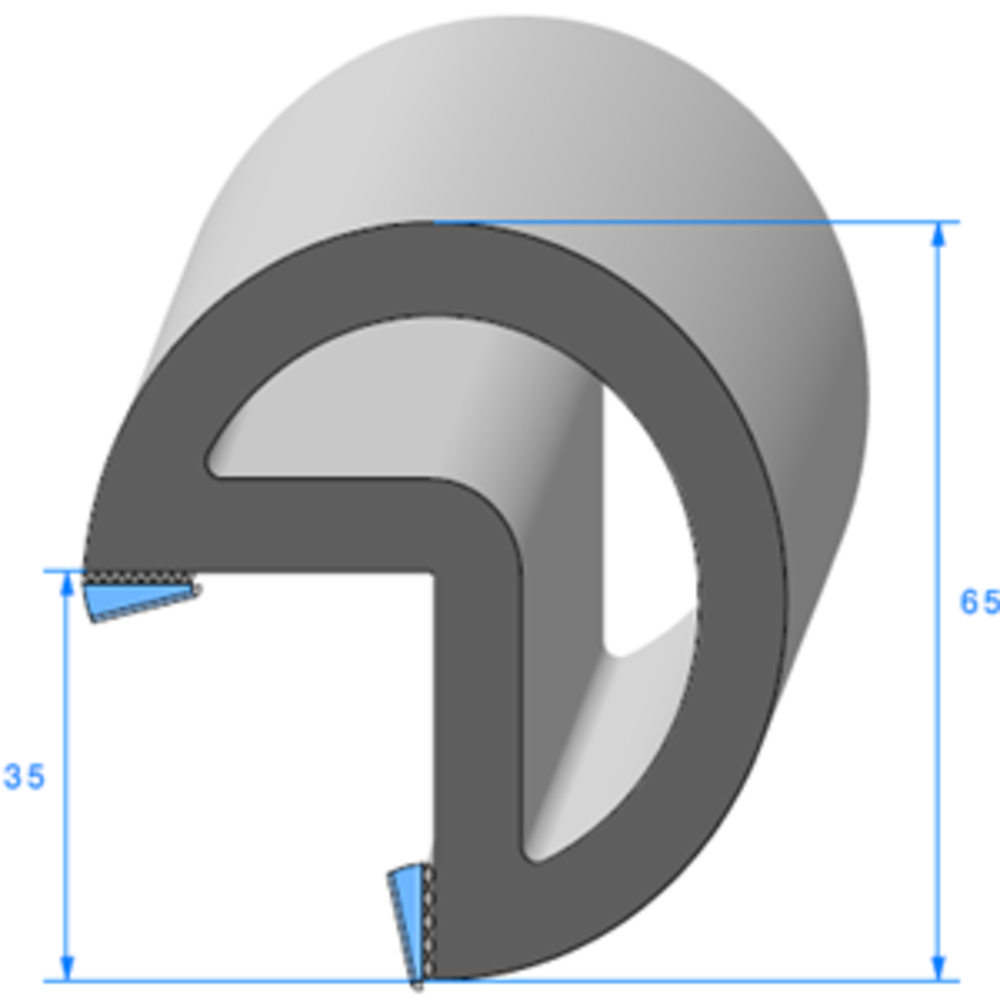 Butoir pour Angle ADH Large   [2 x 10 mm]