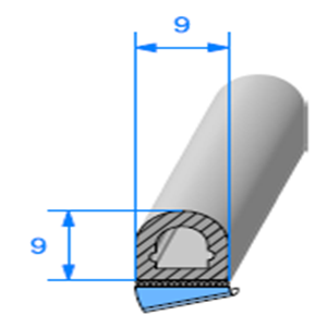 1/2 ROND Cellulaire ADH [9x9 mm]   Vendu au Mètre