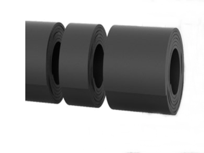 Bavette CC Noir   [200 x 15 mm]   Vendu en Couronne (5 ML)