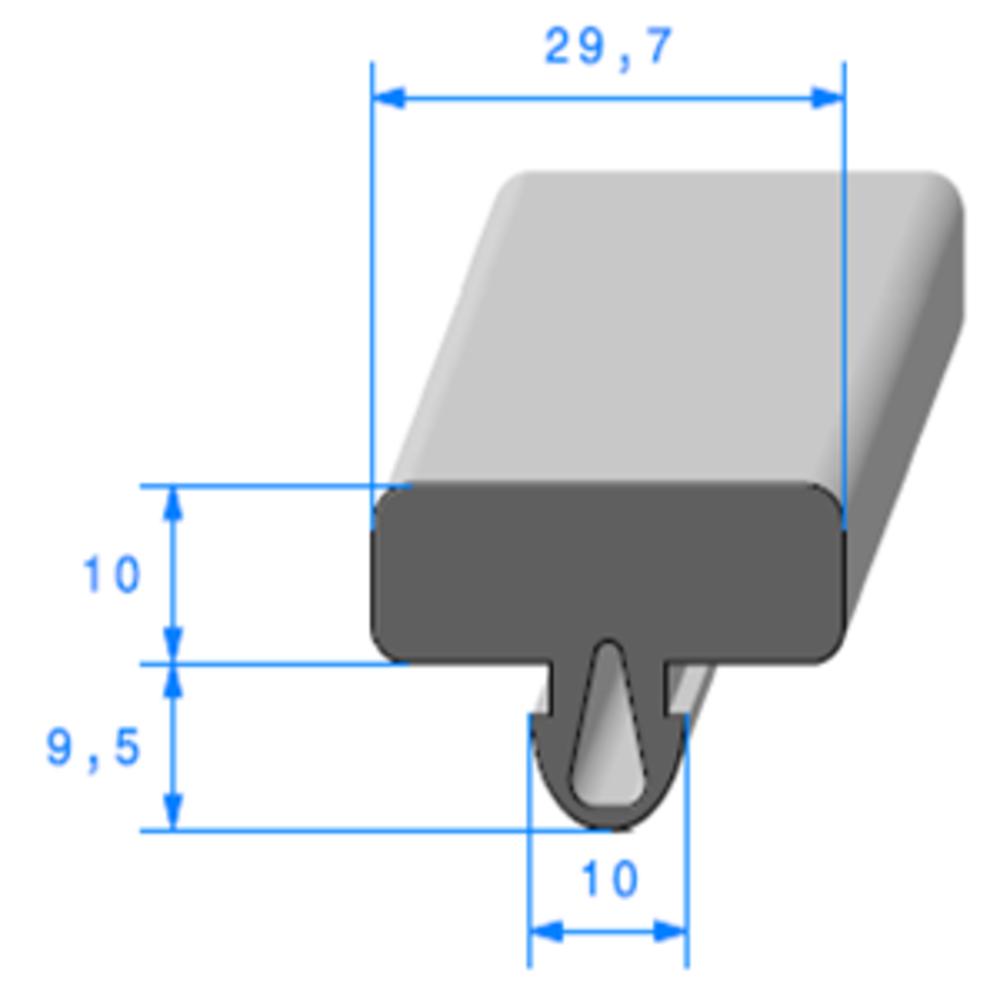 Protection Glace   [30 x 20 mm]   Vendu au Mètre
