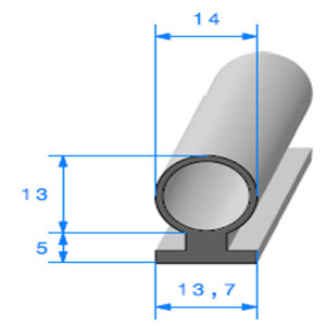 Prof à Talon <br /> [14 x 18 mm] <br /> Vendu au Mètre<br />