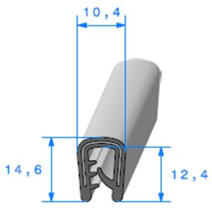 Pince PVC Armé   [Accroche 2 à 4,5 mm]   Vendu au Mètre